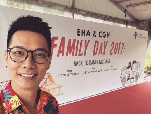 Emcee Sherman Tang Hosting a Family Day Event