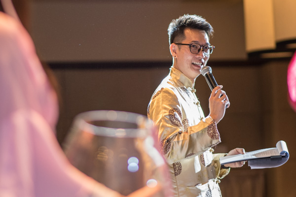 Emcee Sherman Tang Hosting a Dinner and Dance
