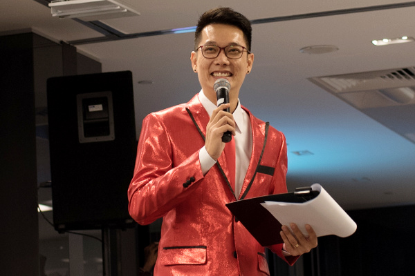 Emcee Sherman Tang Hosting an Appreciation Dinner